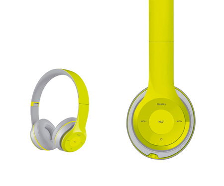 Наушники FREESTYLE BLUETOOTH FH0915 GREEN/GREY [43051]/FH0915GG
