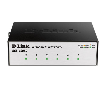 Switch D-Link DGS-1005D 5-порт 10/100/1000